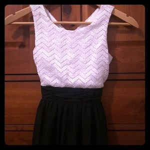 Formal black and white dress girls size 8